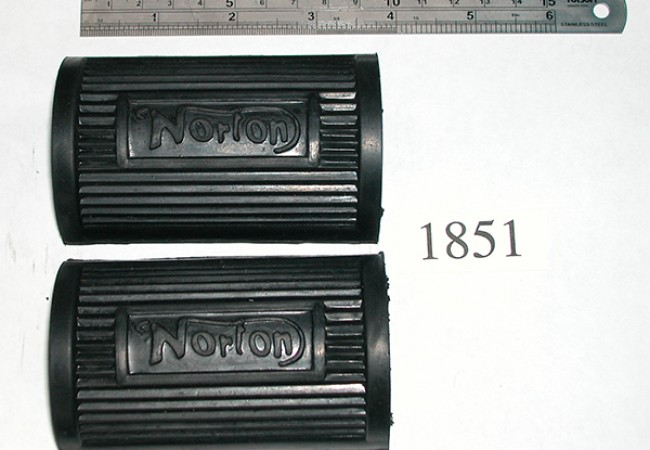 Norton Bicycle-type Footrest Rubbers
